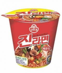 韓國不倒翁-金拉麵杯麵(辛辣)
