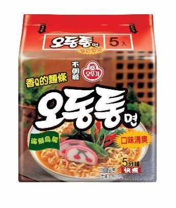 韓國不倒翁海鮮風味烏龍拉麵(辣)